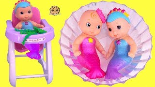 Mermaid Water Baby Twins ! Babysitting Merbabies with American Girl Doll