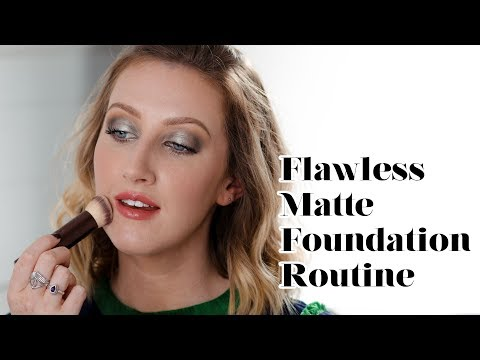 Flawless Matte Foundation Routine For Oily Skin  Sharon Farrell