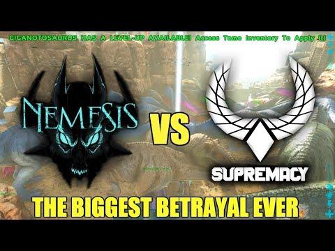 SUPREMACY VS NEMESIS - THE BIGGEST BETRAYAL IN ARK HISTORY!