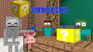 Monster School: UNBOXING MYSTERY BOX CHALLENGE- ANIMATION