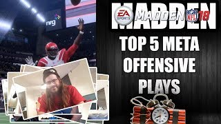 MADDEN 18 TOP 5 META OFFENSIVE PLAYS