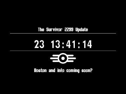 Fallout 4 thesurvivor2299 update: Boston and info on Monday?