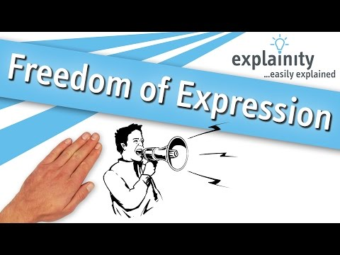 Freedom of Expression easily explained (explainity® explainer video)