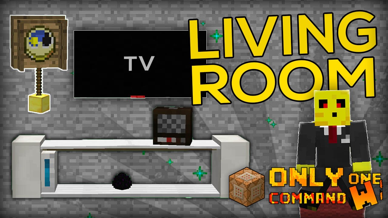 Living Room Furnitures With Only One Command Block