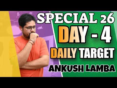 SPECIAL 26 DAY 4 TARGETS    SBI PO IBPS PO    ANKUSH LAMBA