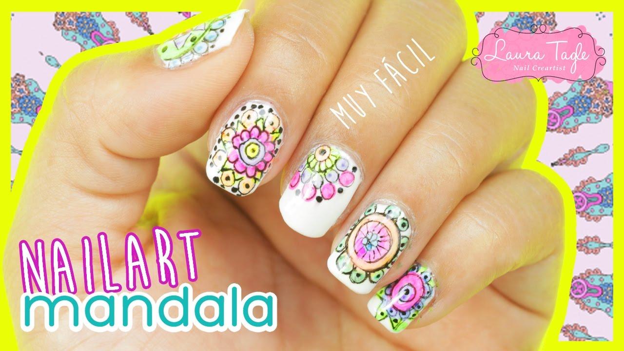 Aprende a pintar tus uñas con diseños de mandalas