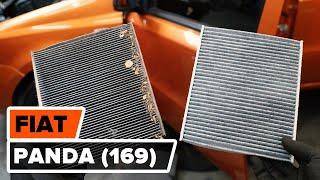 Hur byter man Kupeluftfilter FIAT PANDA (169) - videoguide
