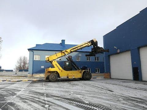 Как доставляются автомобили в ЖД контейнере.