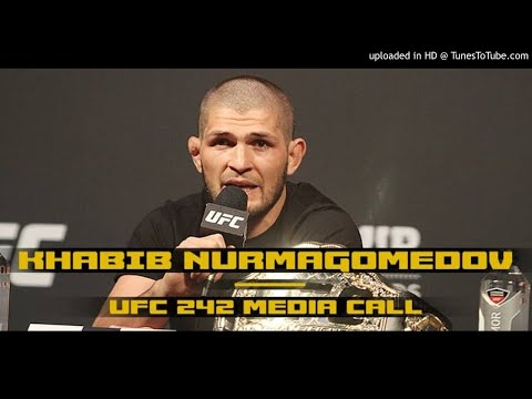 Khabib Nurmagomedov UFC 242 media call: Not giving Conor McGregor the time of day