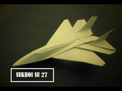 Cara Membuat Mainan Anak Origami Pesawat Jet - Cara Membuat Pesawat Dari Kertas