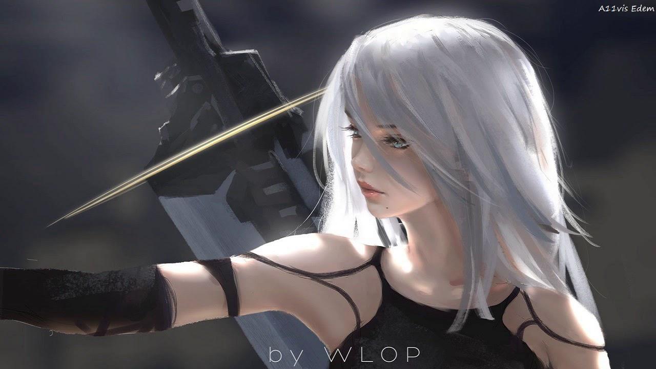naked long haired model