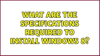 What are the specifications re…