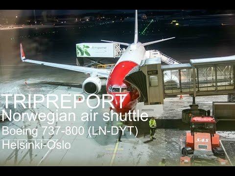 TRIPREPORT / Norwegian ECONOMY Boeing 737-800 Helsinki to Oslo