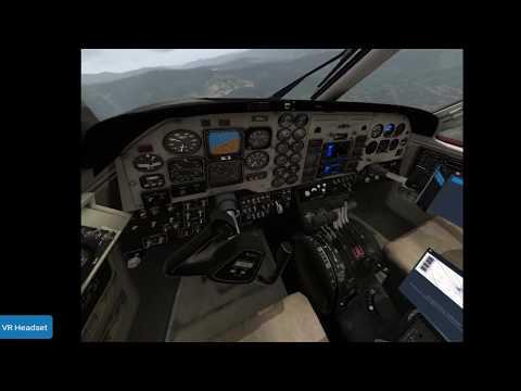 Teste pouso C90 King Air - VR - Medelim SKMD - Xplane 11 - WMR Samsung