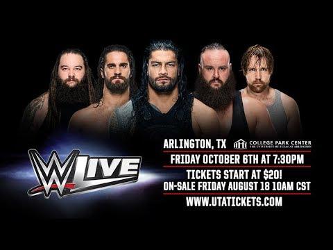 WWE Live - Arlington, TX - October 6th, 2017