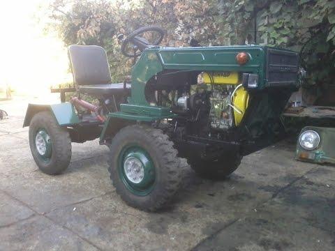 Видео собрал трактор из луаза самодельный с периломнои рамои