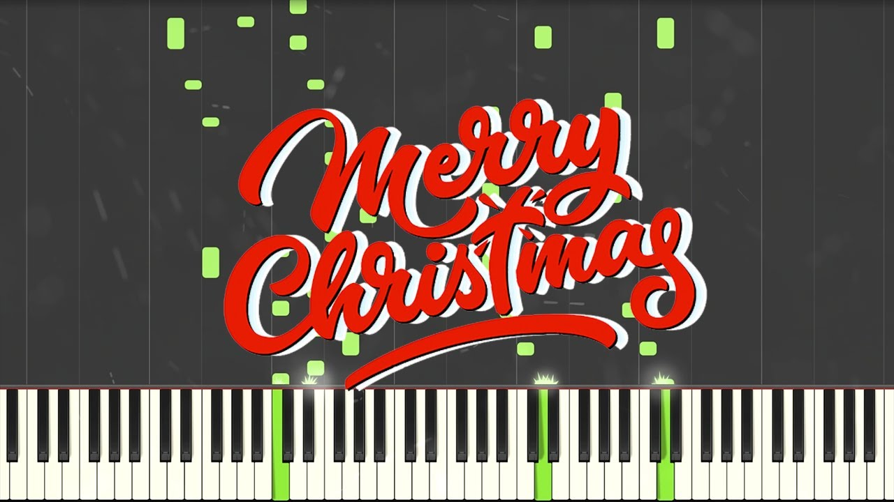 (Christmas Songs) Deck the Halls + We Wish You a Merry Christmas - Synthesia / Piano Tutorial ...