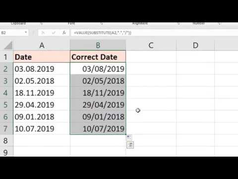 Convert Text To Date Values In Excel - Multiple Examples