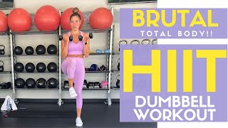 FULL 20 MINUTE HIIT DUMBBELL WORKOUT #fullworkout #hiitworkout #athomeworkout #dumbbellworkout