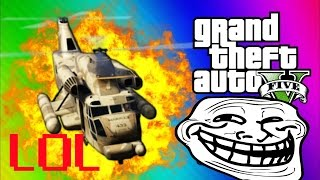 GTA 5 LOL! - Cargobob Troll, Matrix, Kamikaze (GTA 5 Online- Funny Moments)