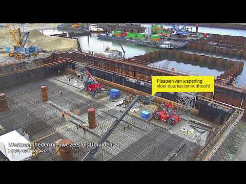 Timelapse: blik op de bouw nieuwe zeesluis IJmuiden