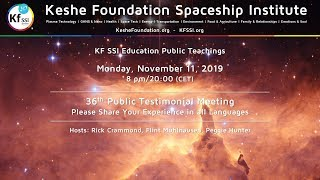 36th Public Testimonials Meeting - Monday, November 11, 2019