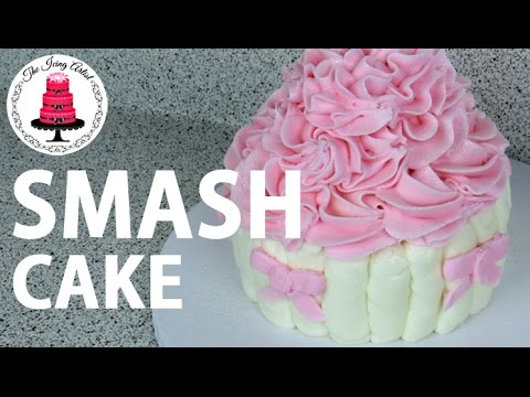 First Birthday SMASH Cake How To With The Icing Artist YouTube