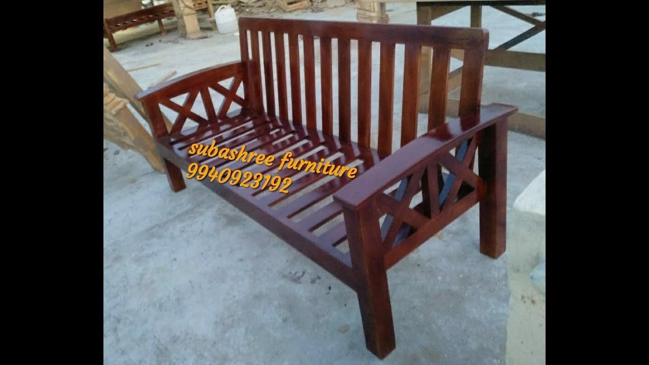Teak Wood Sofa Set Collection/ Wooden Sofa Design With Price Chennai - YouTube
