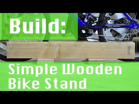 BUILD: Simple Wooden Bike Stand
