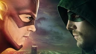 the flash arrow how to top the first crossover ign interview