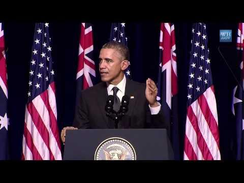 Obama Loves Australia - Full Speech At University Of Queensland