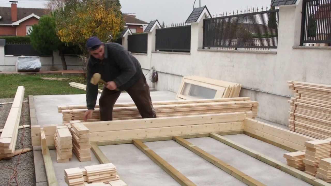 Como Se Monta Una Casa De Madera De Madera Con Grupo Tene Youtube