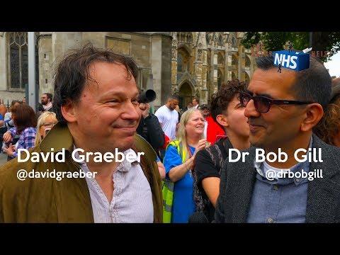 Dr Bob Gill & David Graeber on NHS privatisation Bullsh*t bureaucracies Whistle-blowers Fears