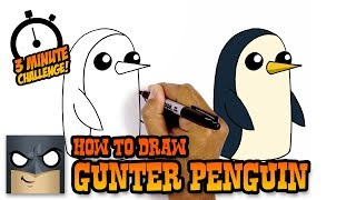 How to Draw Gunter Penguin | In under 3 Minutes | Amazing Drawing Challenge