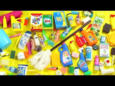 100 DIY Miniature Barbie Dollhouse Accessories  & Lifehacks #4  -  Bath & Cleaning- simplekidscrafts