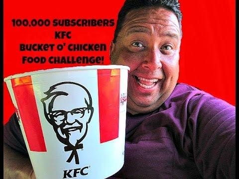100,000 Subscribers KFC Bucket O' Chicken Food Challenge!