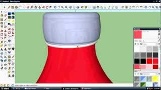 how to make a realistic bottle in sketchup 1st part