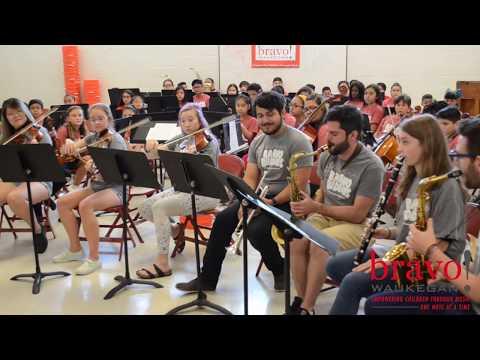 Teachers performing Havana, Bravo Buddies 2018