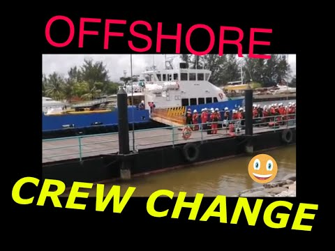 OFFSHORE CREW CHANGE BY BOAT