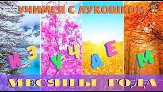 МЕСЯЦЫ ГОДА | Обучающее видео |  Месяцы года для детей | Познавательное видео | Для детей