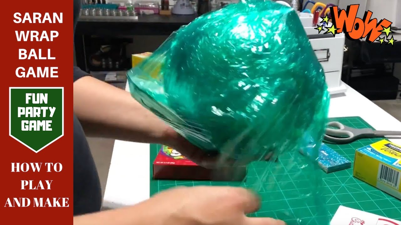 How to play and make a Saran Wrap ball game | Christmas Games | Party Games