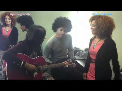 [Jamie Grace 2011] Hold Me feat. Group 1 Crew (Improv Video Backstage)