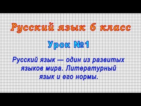6 класс русский язык ладыженская видеоурок