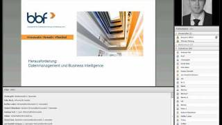 Herausforderung: Datenmanagement und Business Intelligence - alma mater Webinar