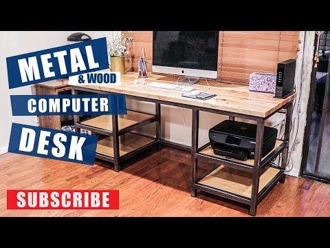 metal-&-wood-computer-desk-build-|-jimbos-garage