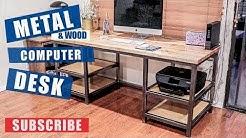 Metal & Wood Computer Desk Build | JIMBOS GARAGE