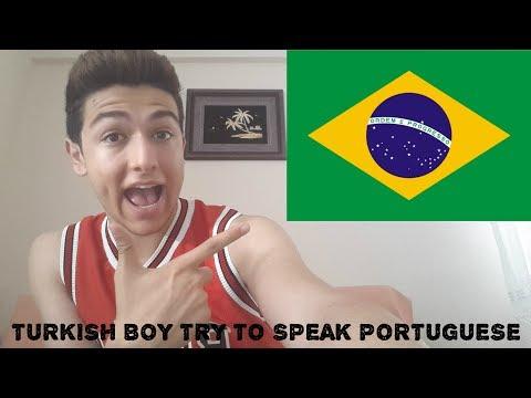 TURKISH BOY TRYING TO SPEAK BRAZILIAN PORTUGUESE ,LANGUAGE CHALLENGE #1