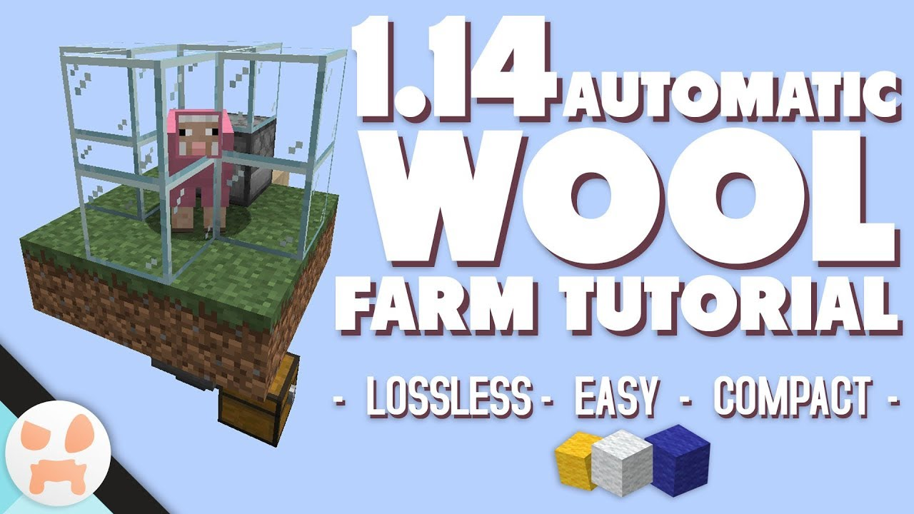 Easy Automatic Wool Farm Tutorial 1 14 Sheep Farm Youtube
