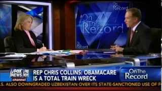 Congressman Chris Collins Discusses Obamacare on On the Record with Greta Van Susteren