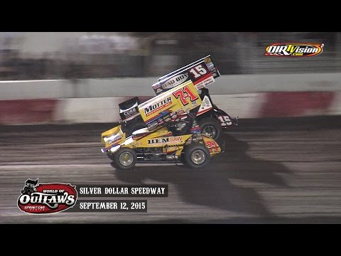 Highlights: World of Outlaws Sprint Cars Silver Dollar Speedway September 12th, 2015